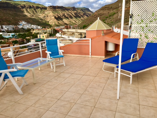 Penthouse Paraiso Mogan  - Luxury 2 bedroomed  -  fabulous views - Private Roof Terrace