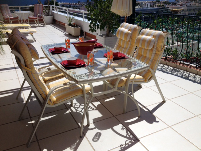 Penthouse Paraiso Mogan  - Luxury 2 bedroomed  -  fabulous views - Dining on terrace