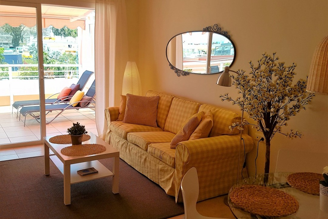 Paraiso 1 - 1 Bed Apartment - Calle La Puntilla - Living Area and Terrace